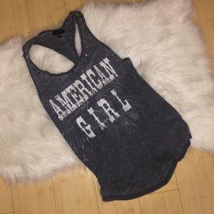 RAMPAGE jersey embellished tank M AMERICAN GIRL